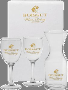 3 Piece Wine Set with Custom Imprint in White Gift Box