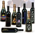 Customized Wine and Champagne Bottles