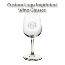 Imprinted personalized wine glasses